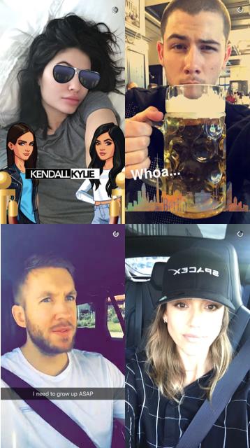 Kylie Jenner, Nick Jonas, Calvin Harris, Jessica Alba.