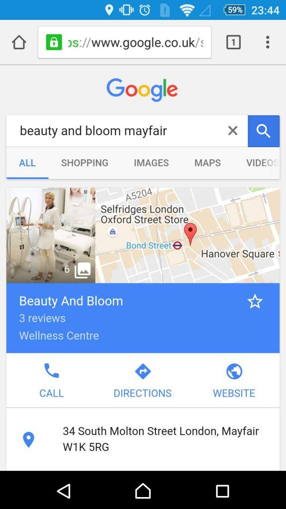 Google Business Result