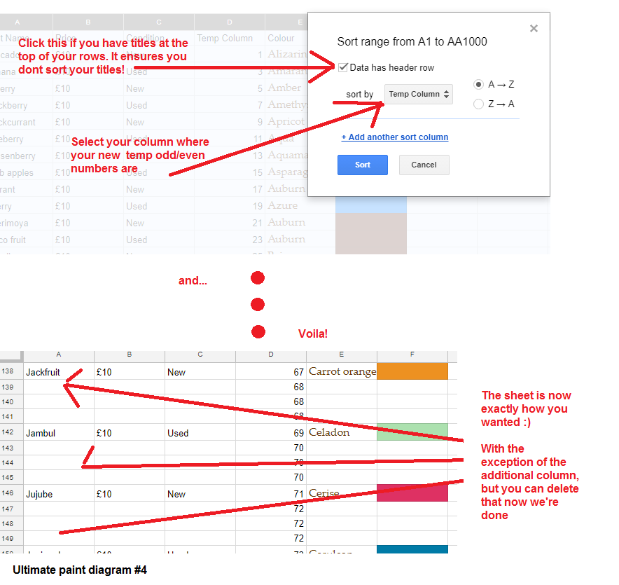 paintdiagram4 - How To Add Multiple Rows Between Data in Google Sheets