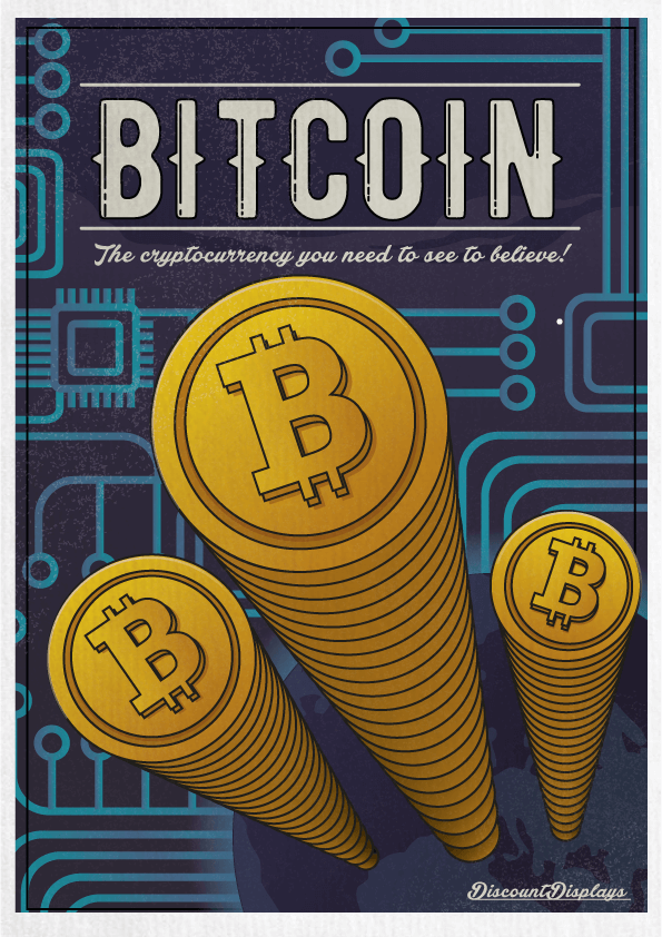 Retro posters bitcoin - Retro Advertising For Modern Technology - How Would It Look?