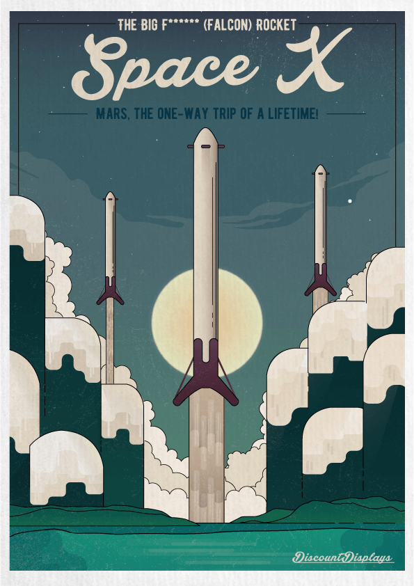 Retro posters spacex - Retro Advertising For Modern Technology - How Would It Look?
