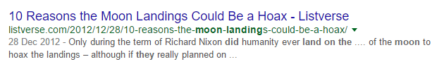 moonlanding - Google are making money from Holocaust? Just No.